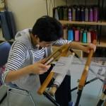 さをり織り作業風景